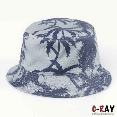 oem cotton bucket hat and cap with silk printing